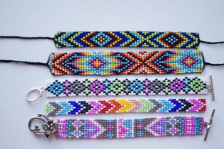 Красивые фенечки прямого плетения схемы