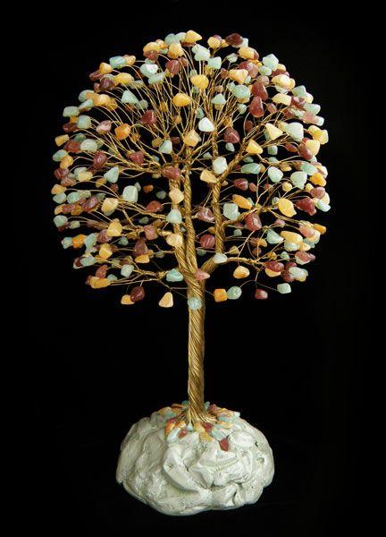 дерево счастья из камней