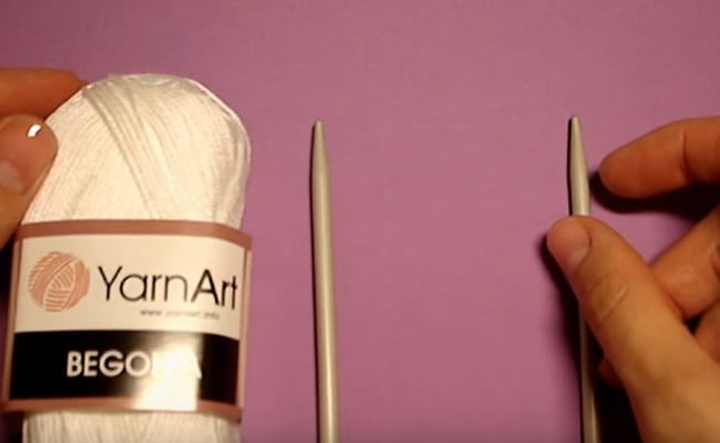 набор для вязания на вилке
